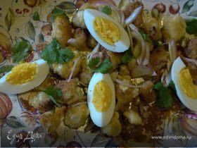 Салат из цветной капусты с заправкой-карри