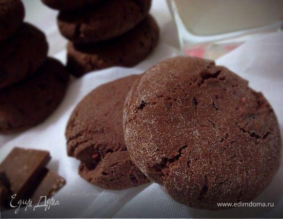 Шоколадно-малиновое печенье (постное)