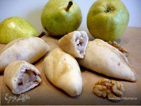 Постные пирожки на кокосовом тесте с грушево-ореховой начинкой