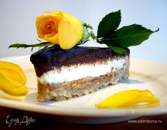 Шоколадно-арахисовый тарт для Ириши burra.salvia «Поле чудес»