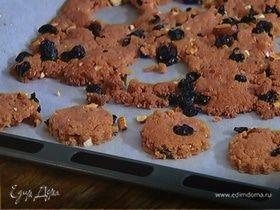 Печенье с миндалем и вишней