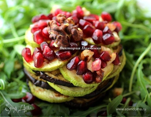 Гриль-салат из кабачков и баклажанов