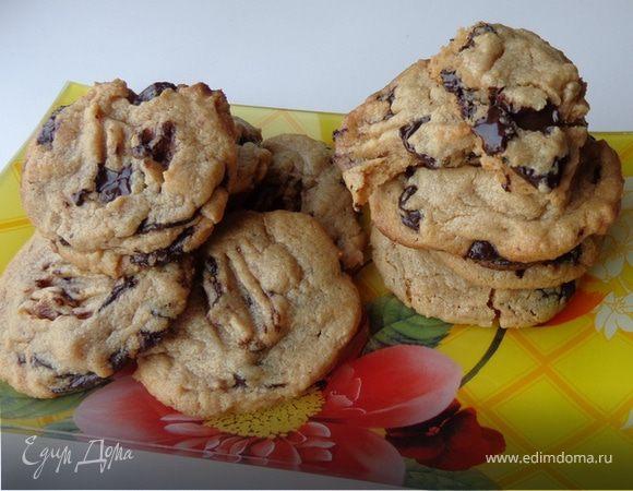 Шоколадное печенье на арахисовой пасте