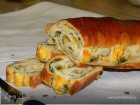 Закусочный хлеб с сыром и укропом