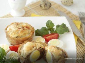 Мясные кексы с перепелиными яйцами