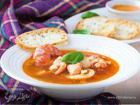 Буйабес с соусом руй (французский рыбный суп)