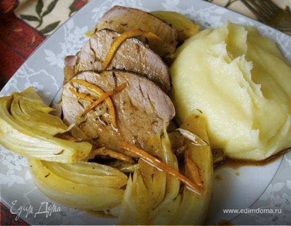 Филе с фенхелем под апельсиновым соусом