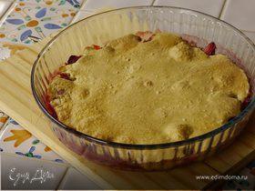 Миндальный торт с клубникой