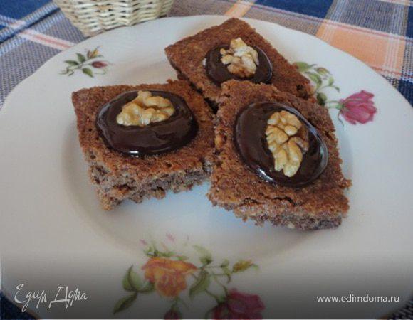 Ореховое печенье в шоколадной глазури