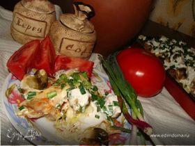 Куриные бедра в овощной шубке