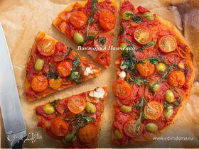 Пицца Маринара на томатном тесте