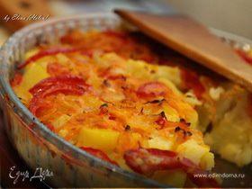 Овощная запеканка из цветной капусты и картофеля