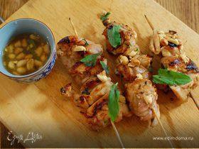 Кебаб из цыпленка с чили и мятой