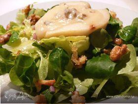 Салат с грушей и горгонзолой