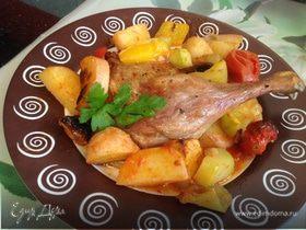 Утиные ножки, запеченные с овощами