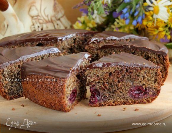 Черемуховый пирог с вишней в мультиварке