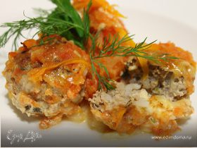 Тефтели с сыром и овощами