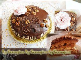 Шоколадный торт с ликером и черносливом
