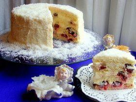 """Торт """"Вишенка в снегу"""" для Натальи Дерий"""