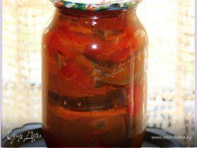 Баклажаны с перцами и помидорами
