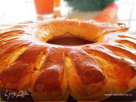 """Пирог """"Ромашка"""" с творожно-медовой начинкой"""