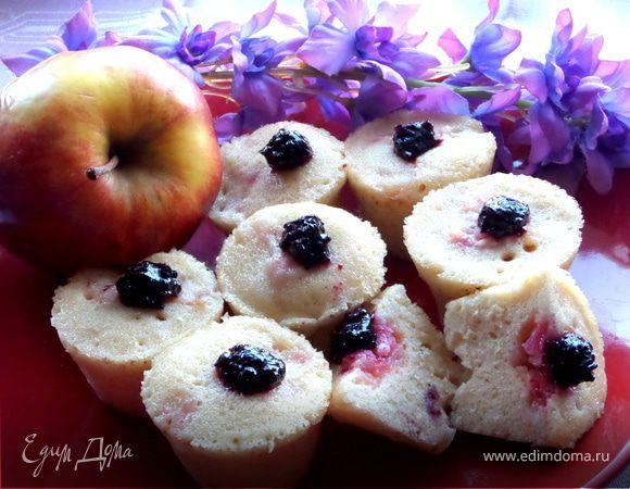 Кексы с яблоками за 3 минуты