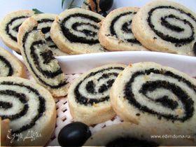 Сырное печенье с маслинами и ароматом лимона