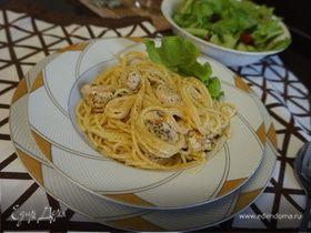 Спагетти с индейкой и творожным сыром
