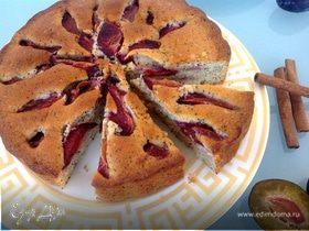 Сливовый пирог с маком и специями