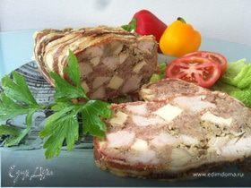 Мясной террин с индейкой и сыром