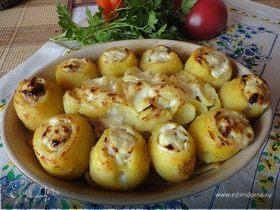 Фаршированный мясом картофель