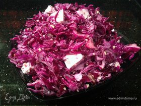 Салат из краснокочанной капусты