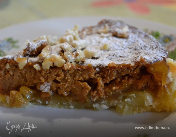 Торт с яблоками и вареной сгущенкой