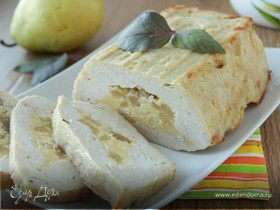 Террин из индейки, сыра и груш