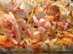 Салат-трансформер из пекинской капусты и корейской моркови