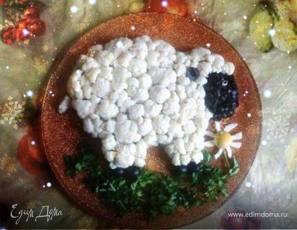 "Новогодний салат ""Овца"""