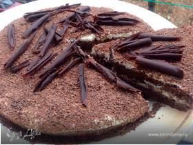 Шоколадно-миндальный торт без муки