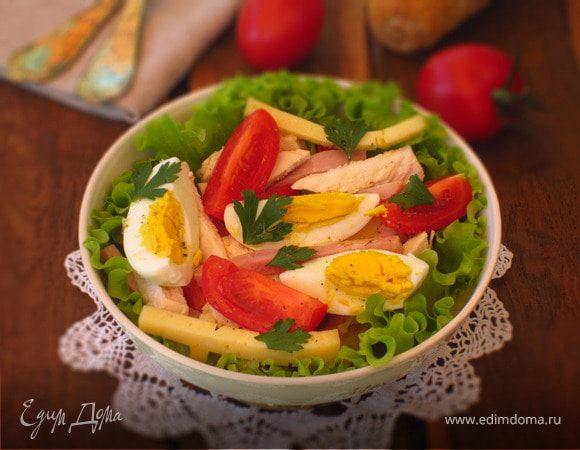 Салат с курицей, яйцом и сыром
