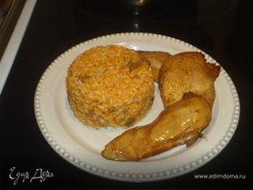Рис с овощами и куриной грудкой