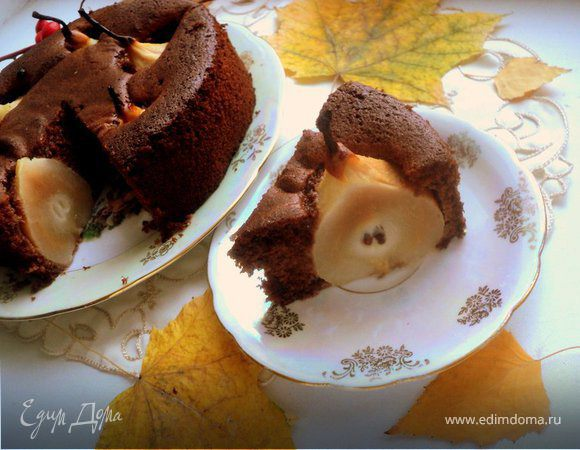Пирог «Груша в шоколаде»