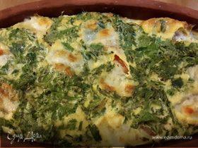 Омлет в глиняной тарелке