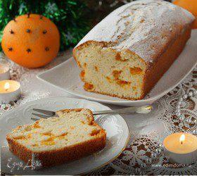 Новогодний кекс с консервированными мандаринами