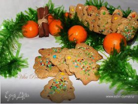 Новогоднее овсяное печенье