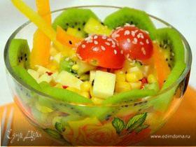 Яркий салат с киви