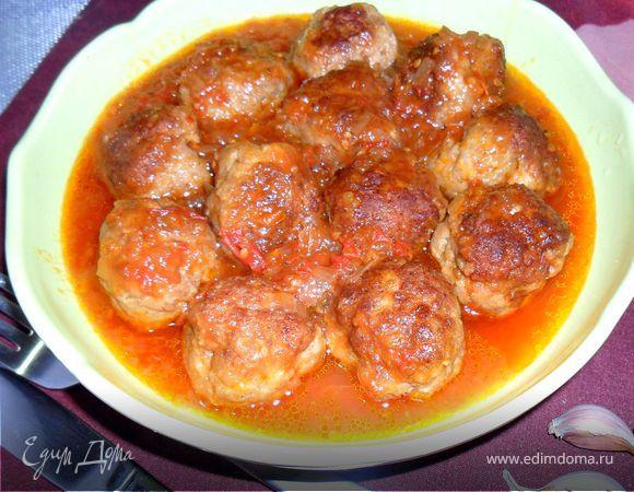 Тефтели по-домашнему с шалфеем в томатном соусе