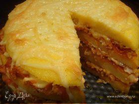 Полента с фаршем и сыром