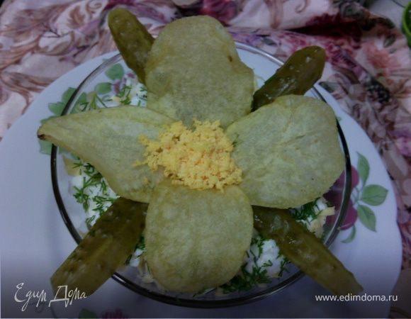 """Салат """"Орхидея"""" с морковкой по-корейски"""