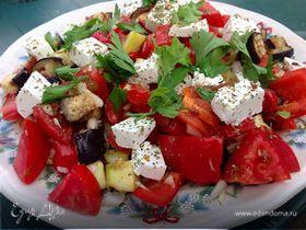 Салат-гриль с сыром фета