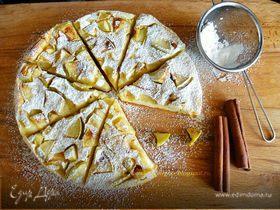 Пряный яблочный пирог-блин