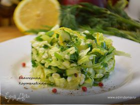 Салат с булгуром и зеленью